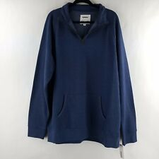 Sonoma Mens Tall Mockneck Fleece Pullover Sweater Blue size XLT, XXLT, 3XLT NWT