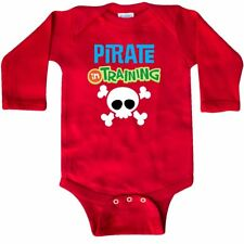 Inktastic Pirate In Training Long Sleeve Creeper Future Skull And Crossbones Job