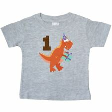 Inktastic 1st Birthday Dinosaur Party Baby T-Shirt First Kids Babys One Year Old