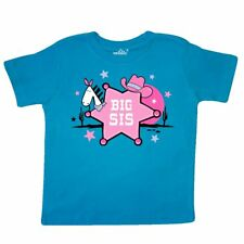 Inktastic Cowgirl Big Sister Toddler T-Shirt Sis Cowboy Hat Sheriff Western Pink