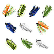 10Pcs 7g 10g Skirt Lure Lead Jigs Head Hook Bass Baits Fishing Jig head Hooks