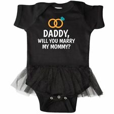 Inktastic Daddy Will You Marry My Mommy With Rings For Infant Tutu Bodysuit Baby