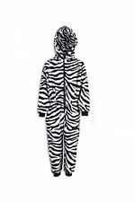 Camille Childrens Unisex Zebra Animal Print All In One Pyjama Sleepsuit