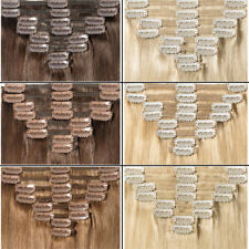 Thick Clip In Extension Double Weft FULL HEAD 100% Real Remy human hair 8Pcs LIN