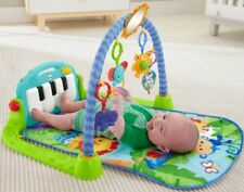 Play Gym Kick Piano And Baby Activity Mat Toy Blue Green Floor Fisher Price