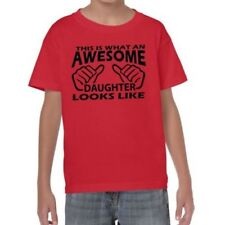 ALM786t-Kids Funny Sayings Slogans T Shirts-Awesome Daughter Looks Like tshirt