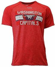Washington Capitals Reebok Heather Red Name In Lights Synthetic Ultimate T Shirt