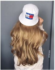 """Ombre Lace Front Wig 24"""" Brown Long Wavy Synthetic Hair Womens Wigs Heat Safe"""