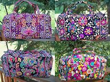 VERA BRADLEY Large Duffel Travel Bag Symphony in Hue Safari Sunset Va Va Bloom