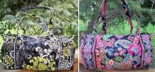 VERA BRADLEY Small Duffel Travel Bag Overnight Weekend Baroque Symphony in Hue
