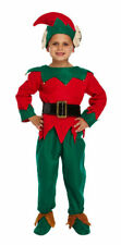 New Christmas ELF 5 Pieces Fancy Dress UP Child Size 4-12 Years Xmas Dresses