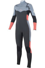 NEW RIP CURL WETSUIT FLASH BOMB WOMEN  8 FULLSUIT STEAMER 3 2  GRAY CHEST ZIP