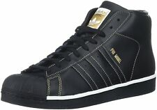 Adidas Mens Performance Pro Model Basketball Shoe Black/White/Gold BY4173