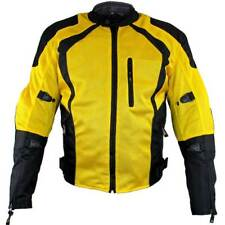Xelement 'Cyclone' Men's Black/Yellow Mesh Tri-Tex Armored Motorcycle Jacket