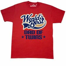 Inktastic Dad Of Twins (Worlds Best) T-Shirt Best Worlds Father Twin Boys Daddy