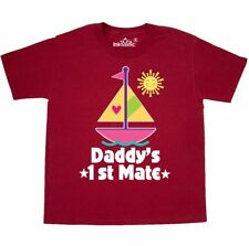 Inktastic Daddys First Mate Girls Nautical Sailboat Youth T-Shirt Baby Girl Sail
