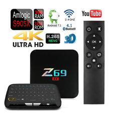 Quad Core Z69 32GB/3GB Android 7.1 WiFi Smart TV Box+Touchpad Wireless Keyboard