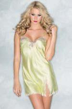 Be Wicked Lingerie Satin Babydoll with Lace trim yellow