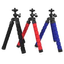 UK Flexible Mini Tripod + Holder Clip Stand Mount For Cell Phone Camera New Hot