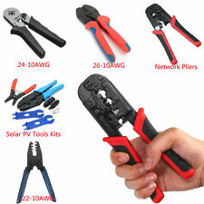 11 Types Steel Durable Industrial Terminal Cable Pipe Crimping Pliers Tools