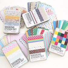 Masking Set Washi Tapes Colors Bright  Labelling Sticker DIY Decorative Diary