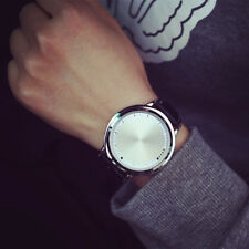 Watch Women Men Led Touch Screen Tree Fashion Leather Band Blue Dial Love Light