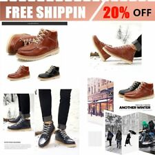 Men Shoes Fashionable British Style Thickened Shoes High-top Leather ShoesBU