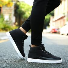 Fashion Men Canvas Shoes Lace-up High Style Flat With Students Casual ShoesBS