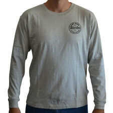 New Men's Afends Pac-Long Sleeve Logo Tee Shirt Top Grey Marle
