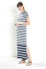 NWT Designer $129 COUNTRY ROAD Trenery Breton Stripe Maxi Dress in Pure Lyocell