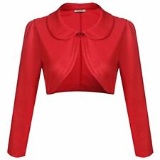 ACEVOG Women Cardigan Shrug Long Sleeve Knit Bolero Top for Dresses