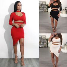 Party club party cocktail mini dress Sexy Women boat neck bodycon bandage