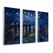 CANVAS (Rolled) Starry Night Over The Rhone Vincent Van Gogh 3 Panels Painting