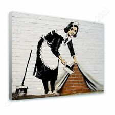 CANVAS (Rolled) Cleaning Lady Banksy Canvas For Home Decor Artwork Oil Paint