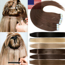 Brazilian 7A Tape In Real Remy Human Hair Extension Seamless Skin Weft Highlight