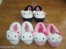 LADIES HELLO KITTY STUFFED SLIPPERS~PINK~WHITE~XL 10/11~NWT