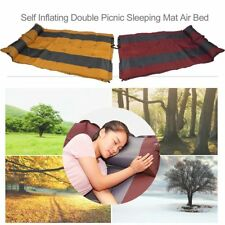 SELF INFLATING CAMPING MATTRESS MAT AIR BED WITH PILLOW JOINABLE