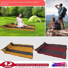 Self Inflating Double Picnic Sleeping Mat Air Bed Camping Hiking Joinable AUS
