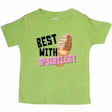 Inktastic Best With Sprinkles Ice Cream Twist Cone Baby T-Shirt Food Chocolate