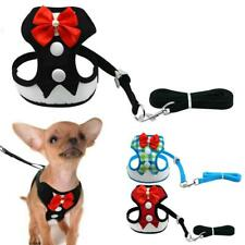 Elegant Bow Dog Harness Nylon Mesh Puppy Vest Breathable Pet  Walking Harnesses