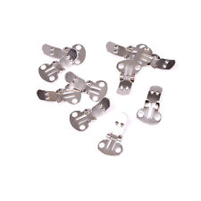 10-20Pieces Blank Stainless Steel Shoe Clips Clip on Findings for Wedding JB