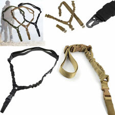 One Single Point Tactical Rifle Sling Adjustable Gun Strap Hunting Bungee Cord