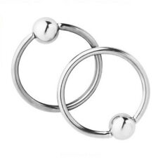 2pcs Women's Body Jewelry 16G Stainless Steel Captive Bead Rings Nose Hoop