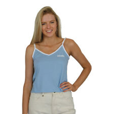 New Women's Afends Vault Logo Tank Top/Singlet Dusk Blue & White