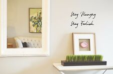 Stay Hungry, Stay Foolish - Vinyl Wall Decal Quotes Stickers Home Steve Jobs