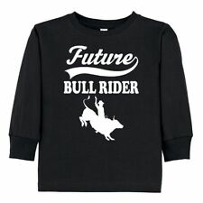 Inktastic Future Bull Rider Rodeo Riding Toddler Long Sleeve T-Shirt Boys Childs