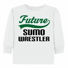 Inktastic Future Sumo Wrestler Toddler Long Sleeve T-Shirt Wrestling Cute Gift