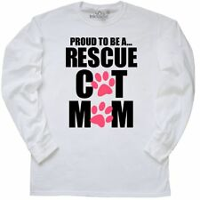 Inktastic Proud To Be A Rescue Cat Mom Long Sleeve T-Shirt Mothers Day Moms Pet