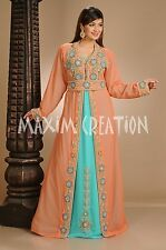 NEW FANCY ARABIAN ISLAMIC GEORGETTE WEDDING  THOBE ELEGANT FANTASY DRESS 4606