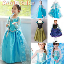 NSW Girl Frozen Queen ELSA Princess ANNA Costume Party Birthday Dress 1-8 Years